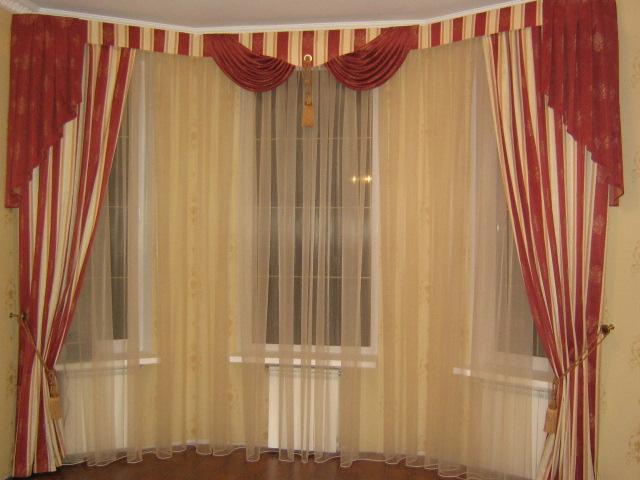 пошив портьер и гардин, ламбрекенов, римских штор, покрывал и др.