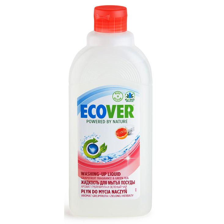 """Экологическая жидкость для мытья посуды с грейпфрутом и зеленым чаем """" Эковер"""""""