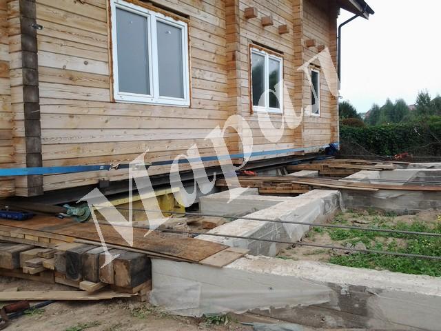 Поднять дом,подъем дачного дома, поднять дом для ремонта фундамента, Тверь
