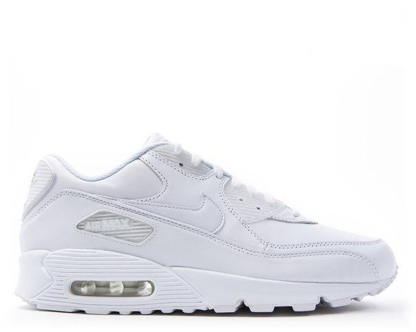 Кроссовки Nike air max 90 белые кожа, размеры с 36 по 45