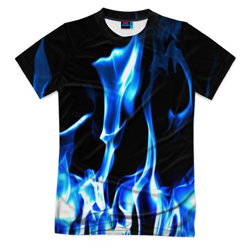 Мужская футболка c принтом 3D Огонь