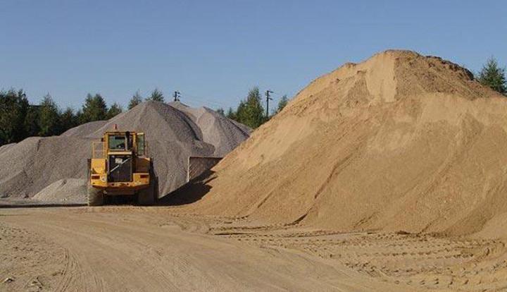 Песок, щебень, гравий, пгс