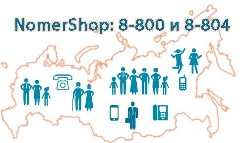 Номера 8800 и 8804 для бесплатных входящих звонков
