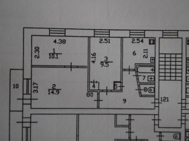 Продается 3-х комнатная квартира г. Тюмень, ул.Гастелло, д.67