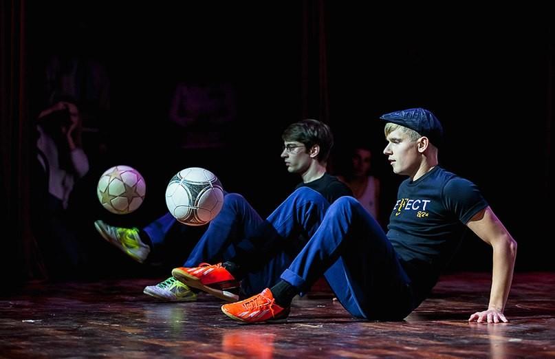 Футбольное фристайл шоу
