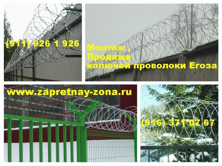 Защита периметра колючей проволокой Егоза в Санкт-Петербурге