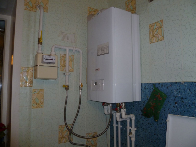 Установка газового оборудования.