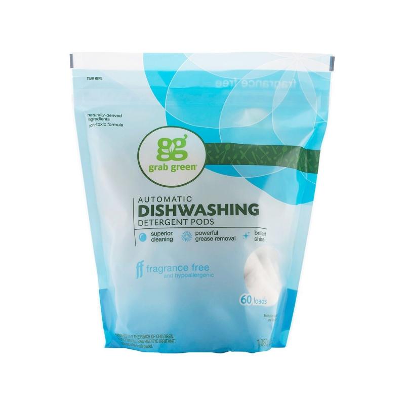 Капсулы для посудомоечной машины Grabgreen без запаха 60 шт