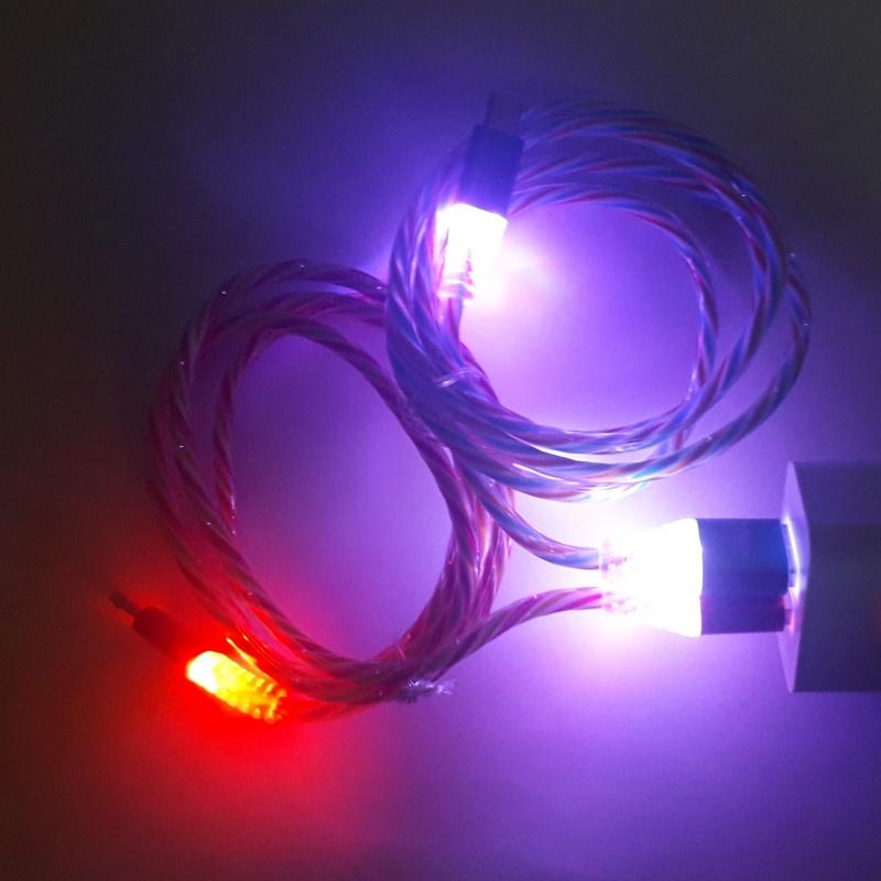 Кабель microUSB с LED подсветкой